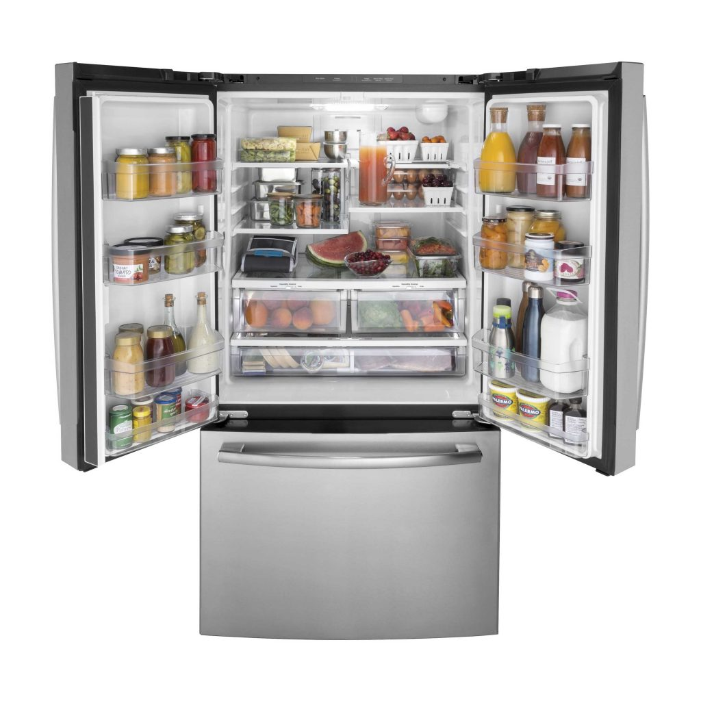 GE GNE27JSMSS - most climate friendly refrigerator for most kitchens