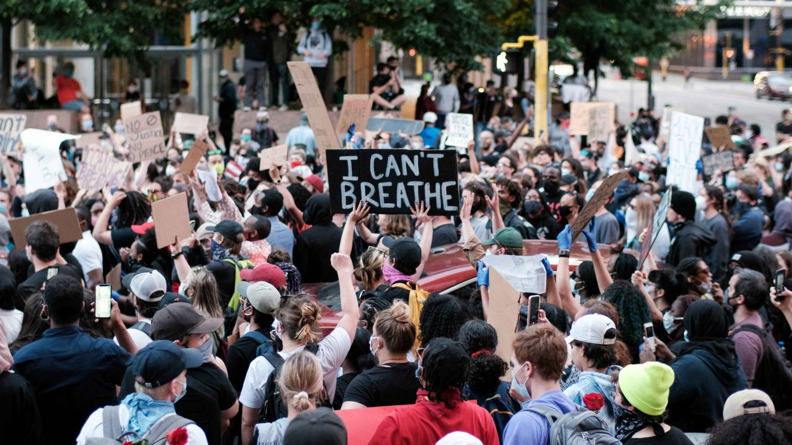 Minneapolis Black Lives Matter protest on May 28, 2020